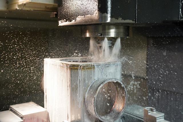 製缶品のマシニング加工