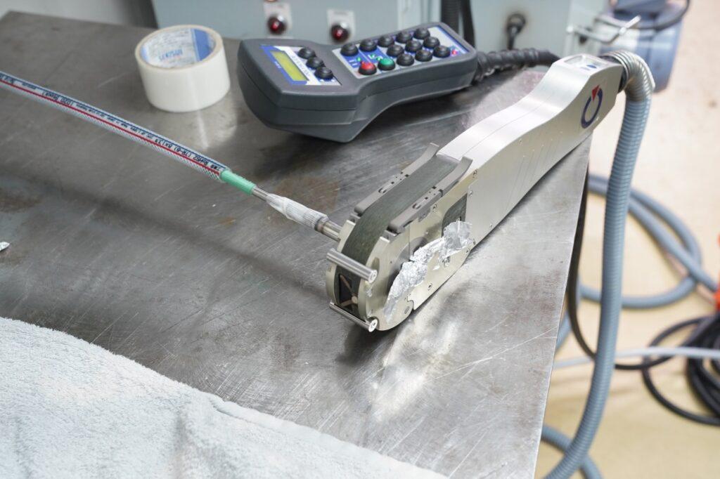 BAチューブ溶接 ポリスード自動溶接機にて溶接 半導体製造装置継手溶接